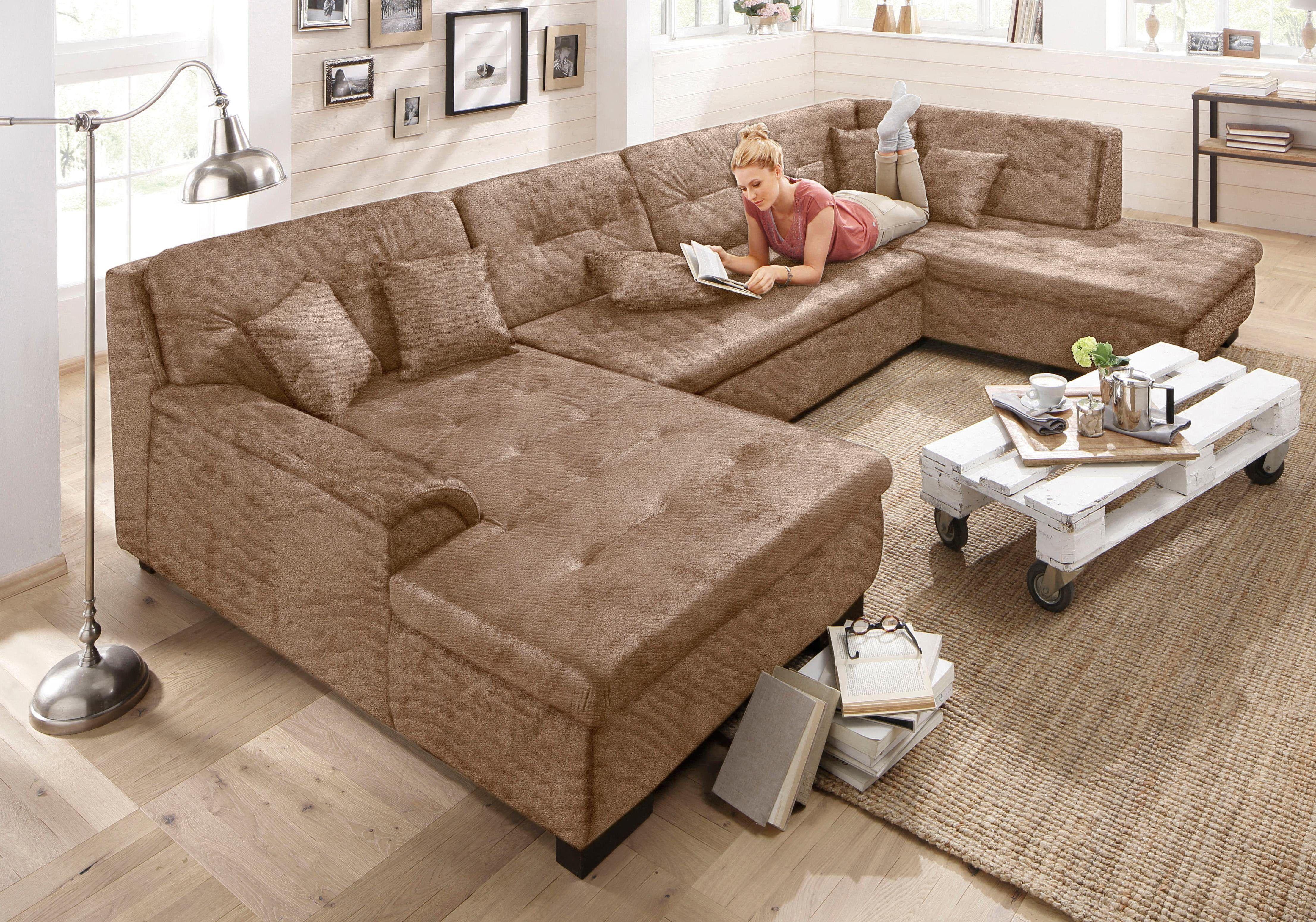 Home Affaire Xxl Wohnlandschaft Braun Ottomane Rechts Bergen Mit Schlaffunktion Fsc Zertifiziert Jetzt Bestellen Unt Moderne Couch Wohnlandschaft Wohnen
