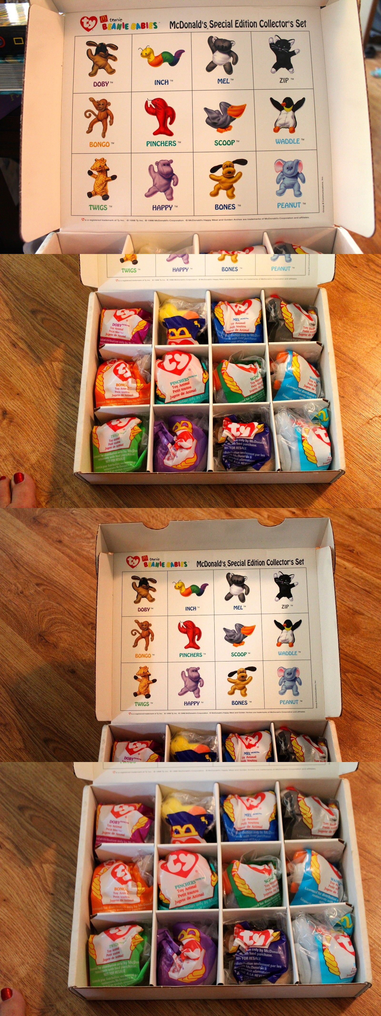 Ty Teenie Beanie Babies 1998 Complete McDonald/'s Special Edition Collector/'s Set
