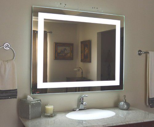 Wall Mounted Lighted Vanity Mirror LED MAM Commercial Grade - Commercial grade bathroom mirrors