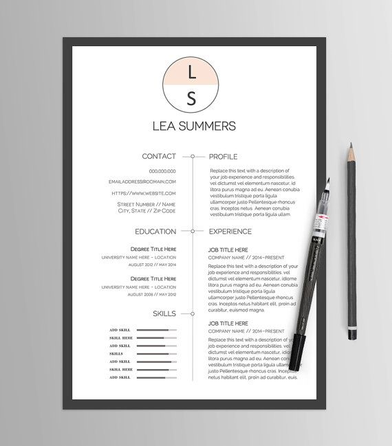 Resume Template No 13 \/\/ Creative CV \ Cover Letter \/\/ Modern - modern professional resume