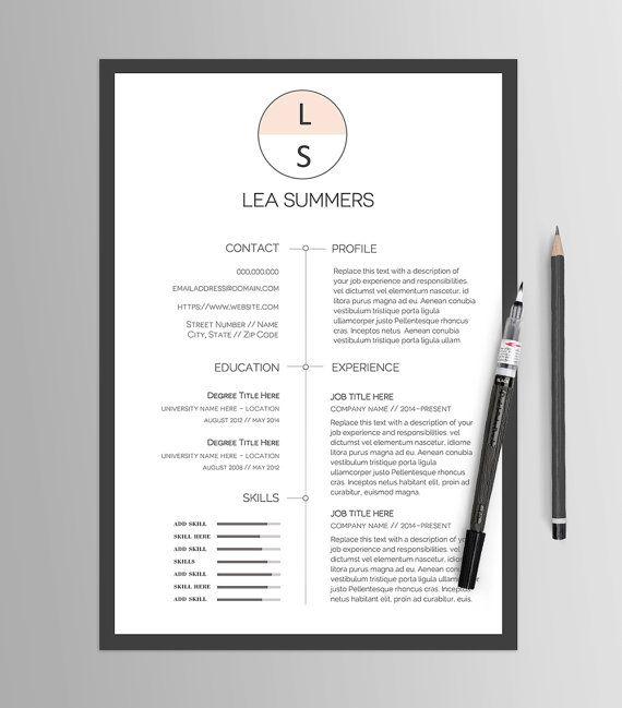 Resume Template No 13   Creative CV  Cover Letter   Modern