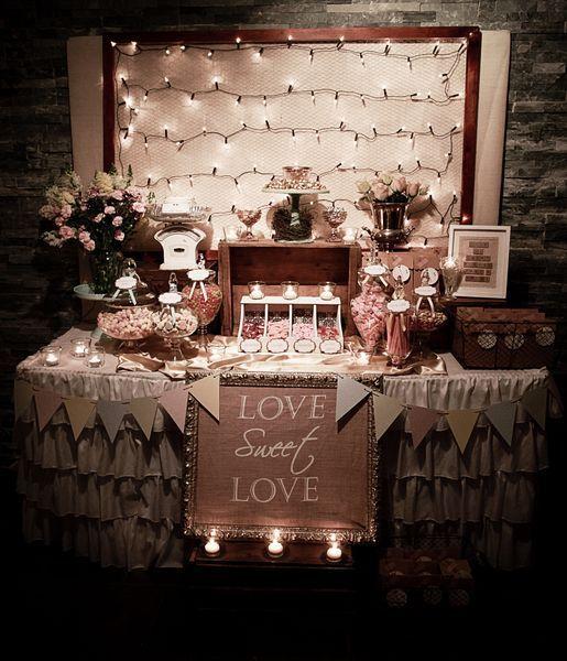 Candy Table Wedding Ideas: Rustic/Vintage Wedding Party Ideas