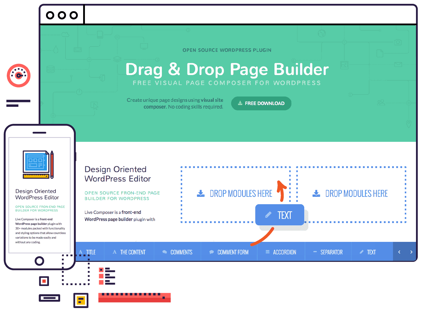 Free drag and drop page builder for WordPress  Open source plugin