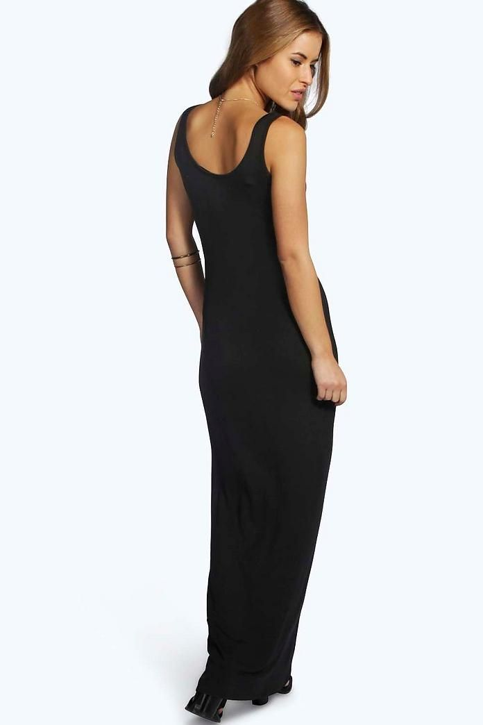 9920e6f5ee Petite Sandy Scoop Neck Maxi Dress | Dresses | Dresses, Bodycon ...