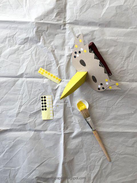 Diy Vogelmasken Fur Kinder Drossel Und Amsel Kinder Masken