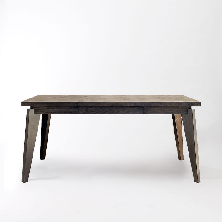 Parsons Expandable Dining Table Espresso Sizes Quotquot - West elm table legs