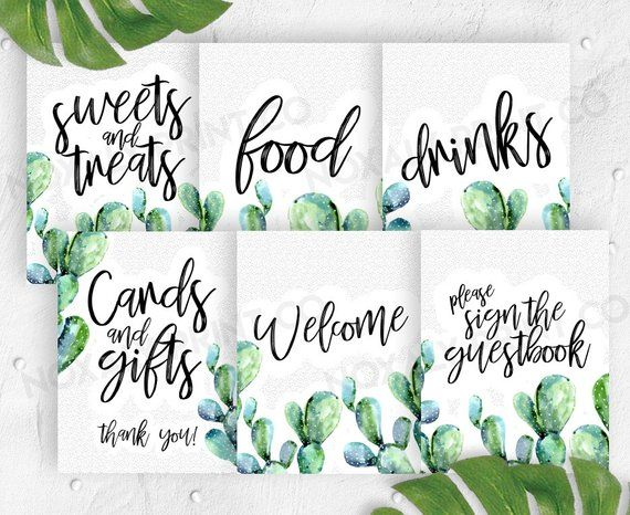 Cacti Baby Shower, signs bundle table decor, cactus baby shower games, printable baby shower, boy baby, cacti baby shower printable is part of Cactus decor Baby Shower - noxalyprintco ……………………………………………………… ►►►SATISFACTION GUARANTEED If you are unsatisfied with your order please let me know so that I can correct it for you and you will receive an improved version of your purchase  However, I am not able to give a refund, due to the nature of the product  I am located in the United States in Pacific Standard Time  If you have any further questions or suggestions, please feel free to contact me! DESIGNS ARE FOR PERSONAL USE ONLY AND MAY NOT BE SOLD OR REDISTRIBUTED ♥