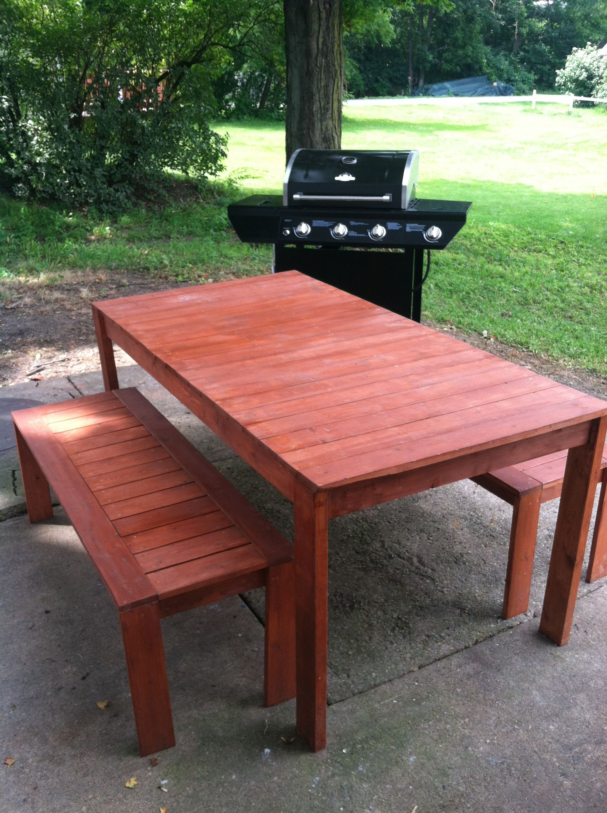 Ana white our simple outdoor dining table diy projects