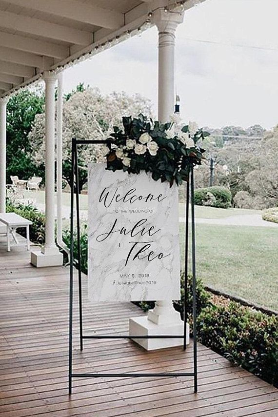Marble Textured Wedding Welcome Sign, Editable Template, Printable #009, #Editable #Marble #Printable #Sign #template #Textured #Wedding
