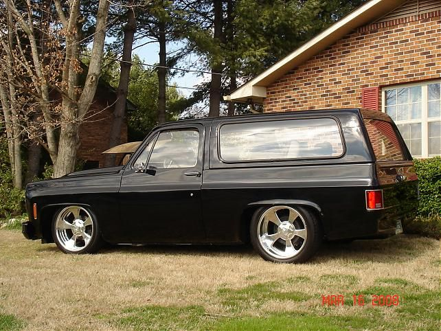 I had a \'77 two wheel drive Blazer which I put an \'84 front clip on ...
