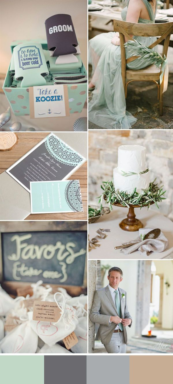 Cool Summer Wedding Ideas With Personalized Koozie Favors Wedding