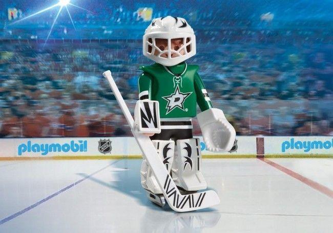 Playmobil Hockey LNH:Gardien de but des Stars de Dallas - Castello   Jeux et Jouets