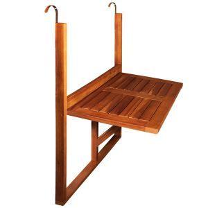 Table De Balcon 64x45x87 Cm En Bois D Acacia Table De Balcon Table Pliante Balcon Et Table Pliante