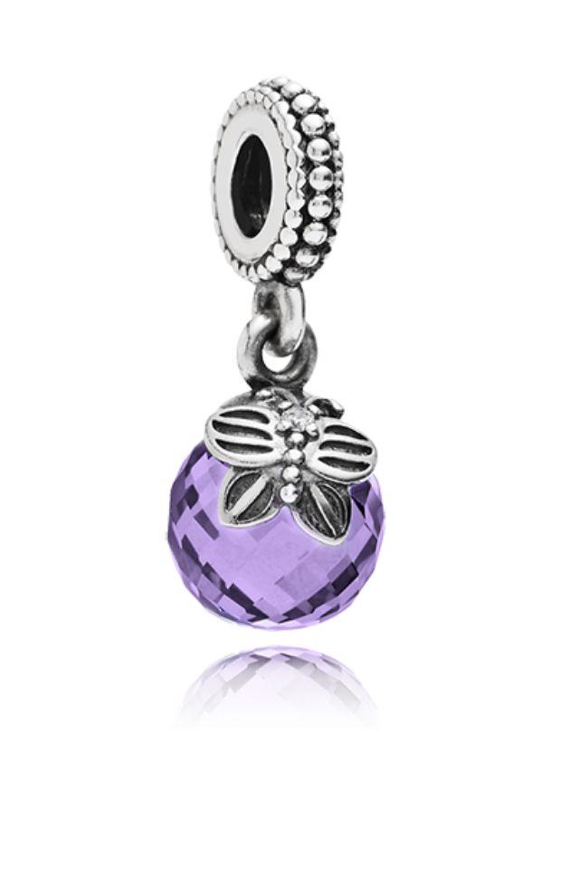 290cea47b Pandora purple morning butterfly dangle charm | pandora | Náramky