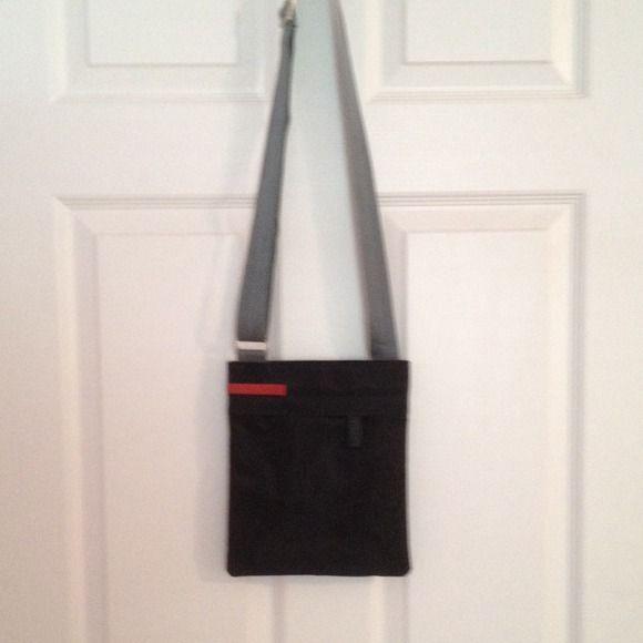 8aad2d7f09 ... reduced prada sport crossbody bag black jersey teflon bag with a gray  adjustable strap. this