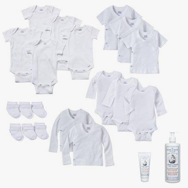 a1990f788 Gerber newborn baby onesie Kimono top and sock 19-piece set, $67,  kohls.com; Le Couvent des Minimes Loving Care balm body cream for very dry  skin, $35, ...