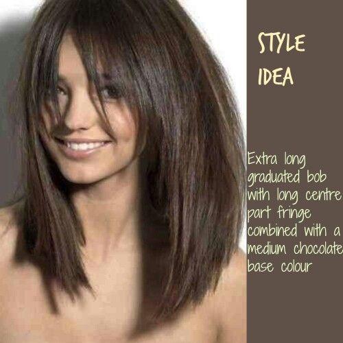 extra long bob style hair
