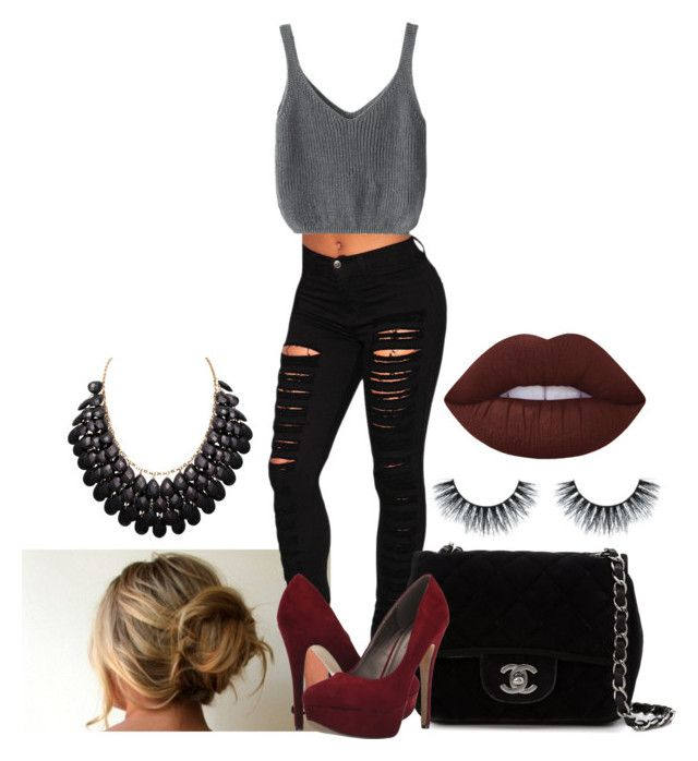 """""""Untitled #207"""" by leleluvsyu on Polyvore featuring Chanel, Michael Antonio and Lime Crime"""