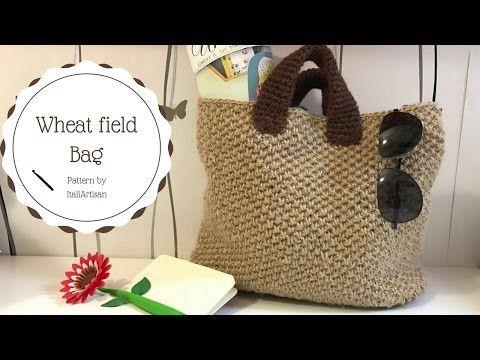 WHEAT FIELD BAG, tutorial uncinetto, borsa in filato di canapa, Hemp Bag, Crochet tutorial - YouTube