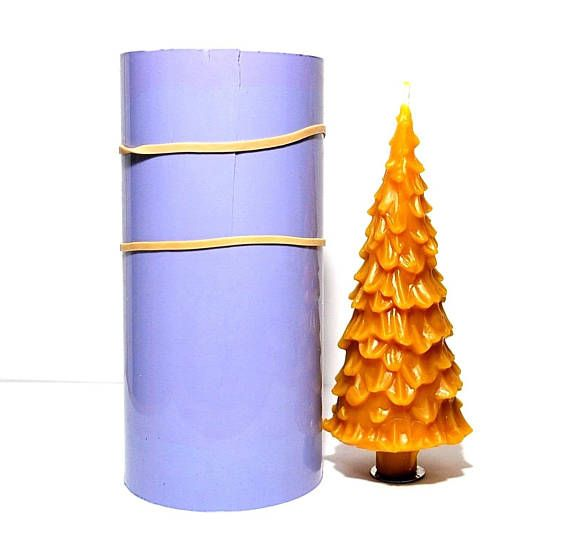 Christmas Tree Mold Silicone Tree Mold Silicone Candle Candles Hand Dipped Candles Food Candles