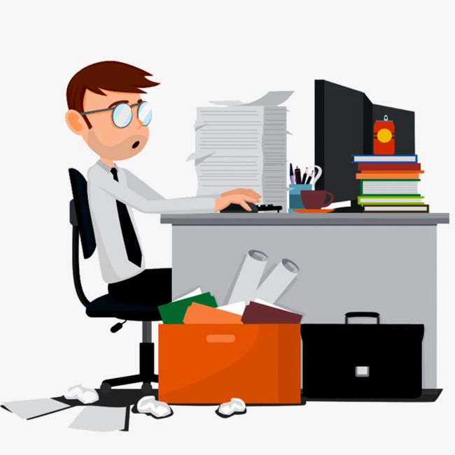 Office Desk Office Clipart Hand Painted Office Desk The Desk Png Transparent Clipart Image And Psd File For Free Download Work Cartoons Office Clipart Clip Art