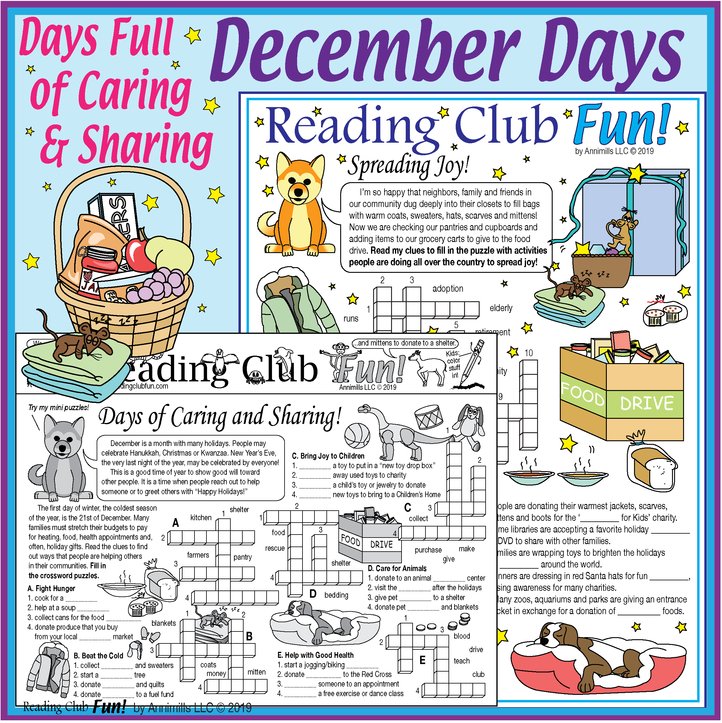 December Days Full Of Caring And Sharing Activity Pages