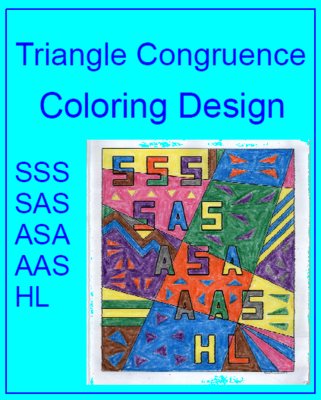 Triangle Congruence - Coloring Activity | GEOMETRY | Pinterest