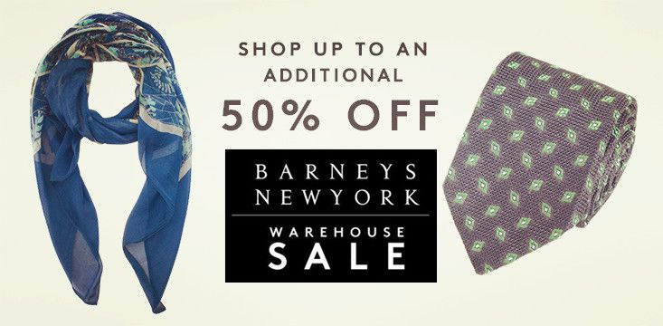 BARNEYS WAREHOUSE: Take an additional 50% off women's handbags and 40% off men's and women's accessories.