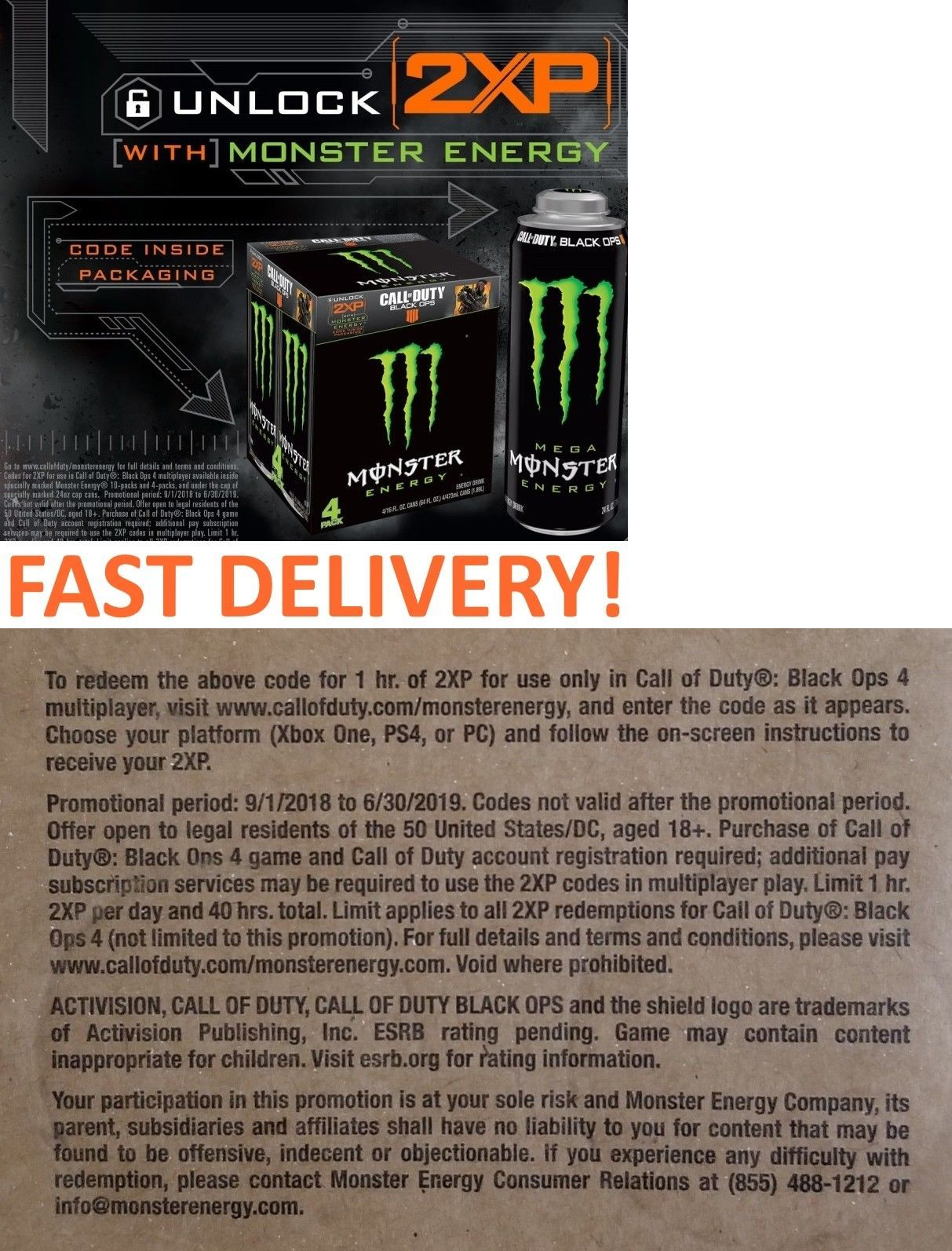 call of duty black ops 4 monster energy