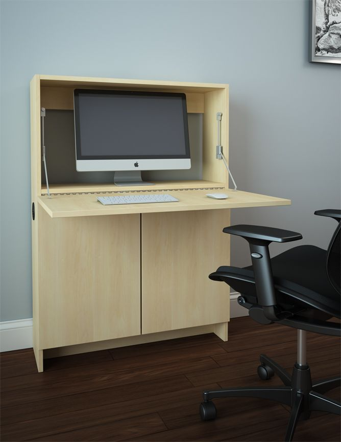 Wall Mounted Desk For Computer And Working Area In Small Space Saving Design