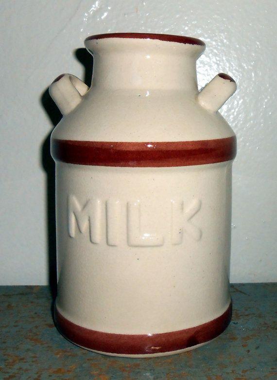 Vintage Milk Can Ceramic Ducks Geese Milk Can Jar by TheBackShak, $11.50