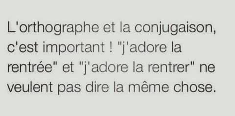 L Orthographe Et La Conjugaison C Est Important J Adore La