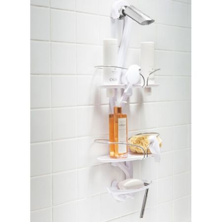 Howards Storage World Bird Bath Shower Caddy White
