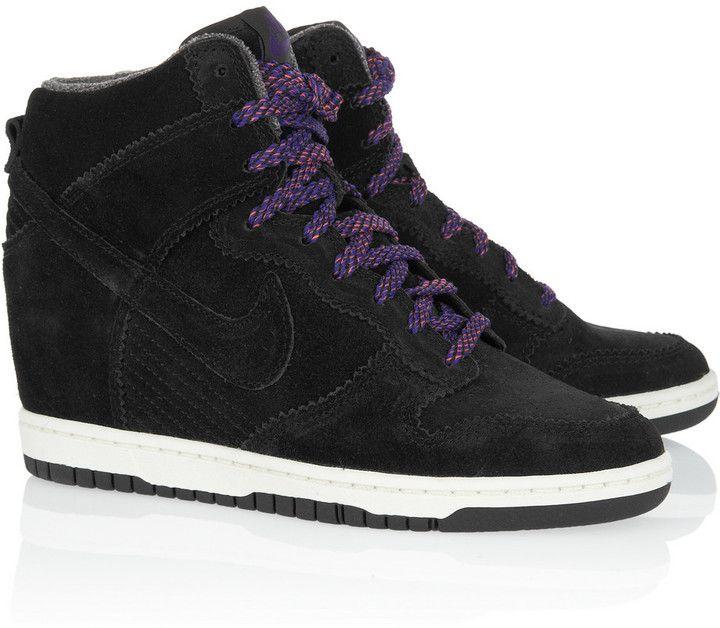 innovative design b6c94 7f5b9 Nike Dunk Sky Hi suede wedge sneakers