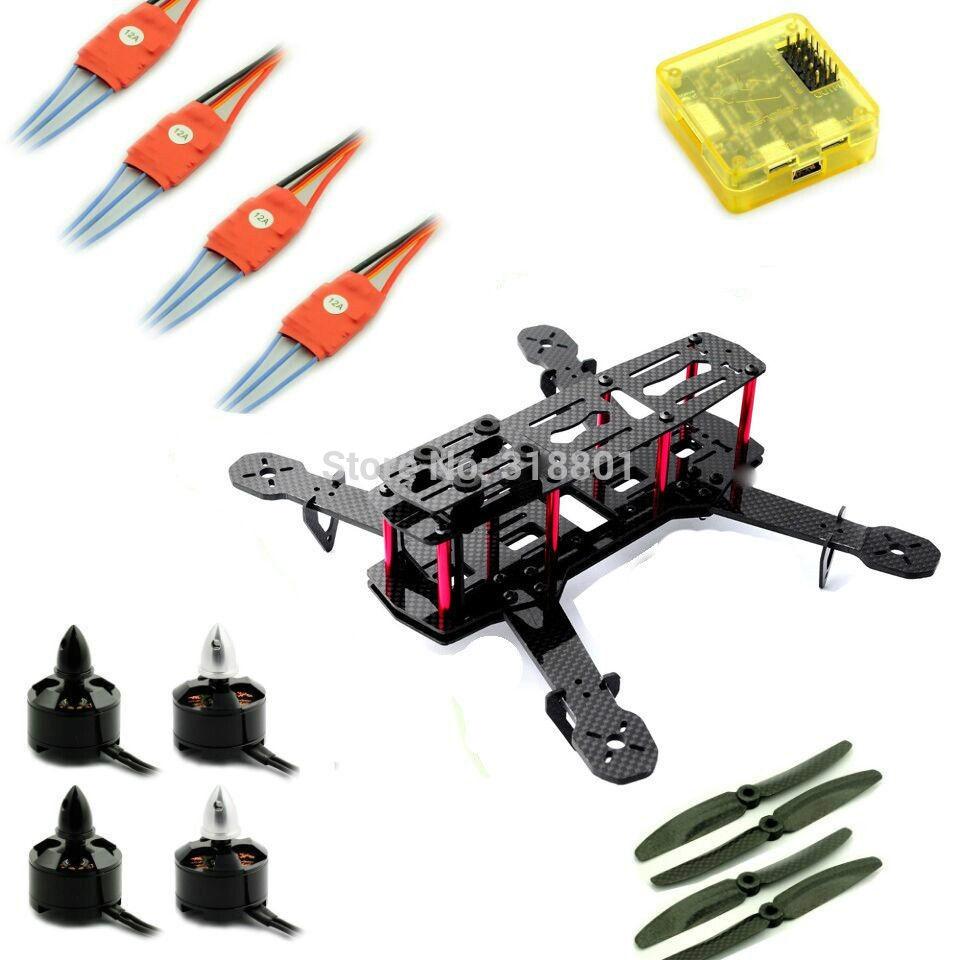 103.54$  Buy here - http://ai7p0.worlditems.win/all/product.php?id=32279419345 - QAV250 Mini H  FPV Carbon Quadcopter Combo Kit Frame CC3D Flight Controller Motor  ESC