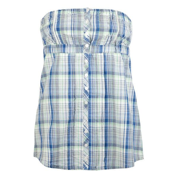 FULL TILT Plaid Womens Tube Top ($4.97) ❤ liked on Polyvore featuring tops, shirts, tube tops, blusas, plaid, women, shirt top, strapless tops, woven top and blue strapless top