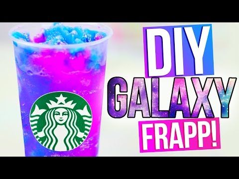 DIY GALAXY STARBUCKS Vanilla Bean Frapp - YouTube. Again she does sound annoying no offense but this is a really cute thing so cool i honestly dont want to eat it because it seems un--edible but at the same time you do and its so simple!