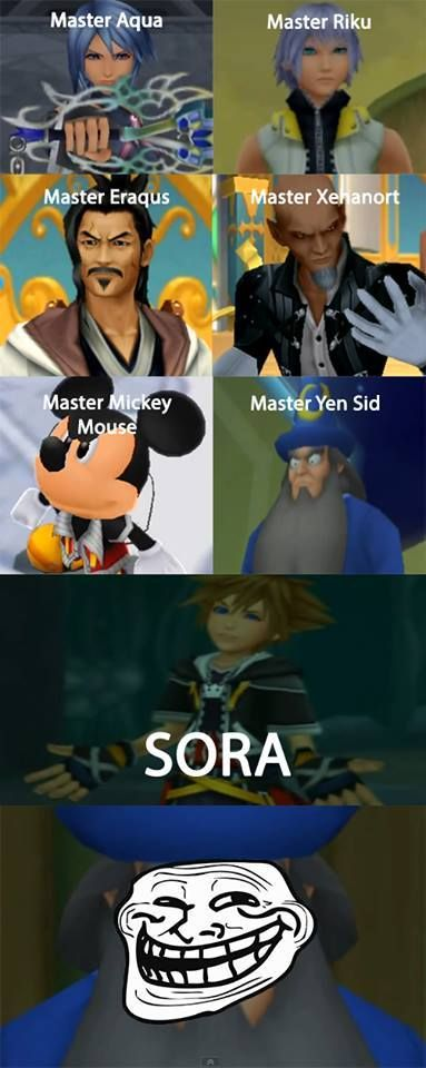 man why is mickey one .............................................................. sora should be one he'sthe main character serious OMG