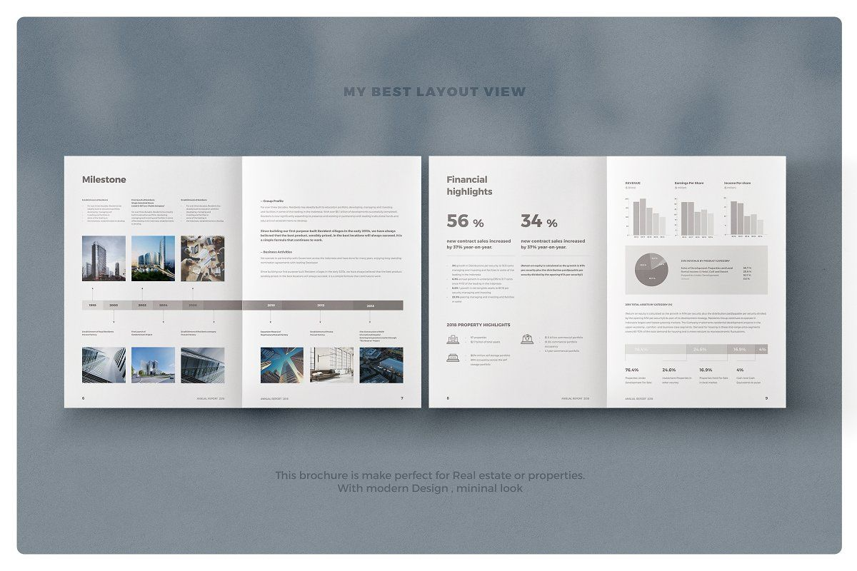 Real Estate Annual Report #annualreports