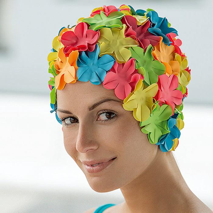 d62f43589922d Bonnet de bain femme fantaisie à fleurs - Abysse-sport | Les bonnets ...