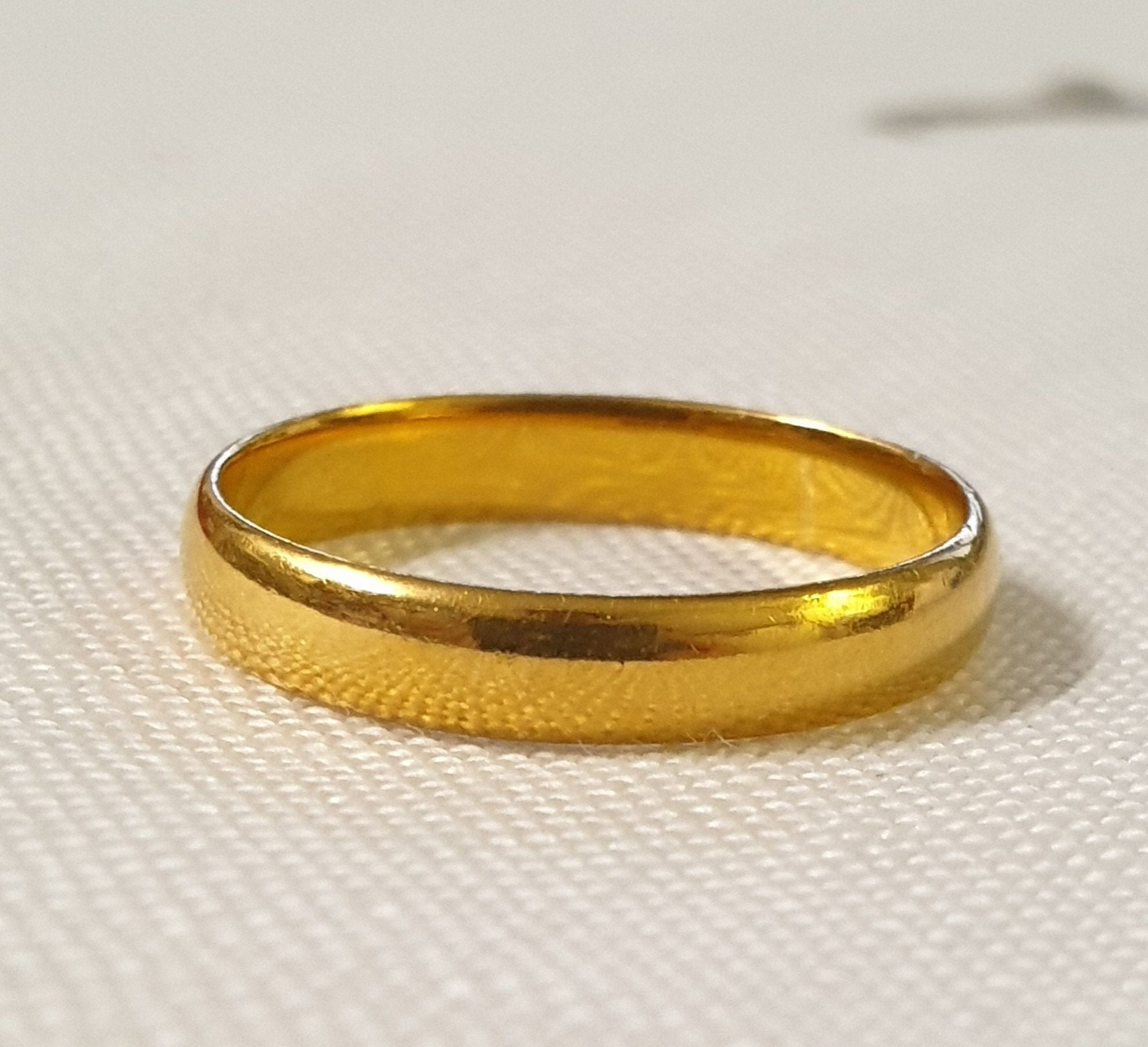 22ct Ring Gold Wedding Band Vintage 1955 Wedding Jewellery Womens Wedding Ring Bridal Sz L Wedding Jewelry Antique Jewelry Gold Ring In 2020 Gold Wedding Band Gold Rings Jewelry Vintage Wedding Band
