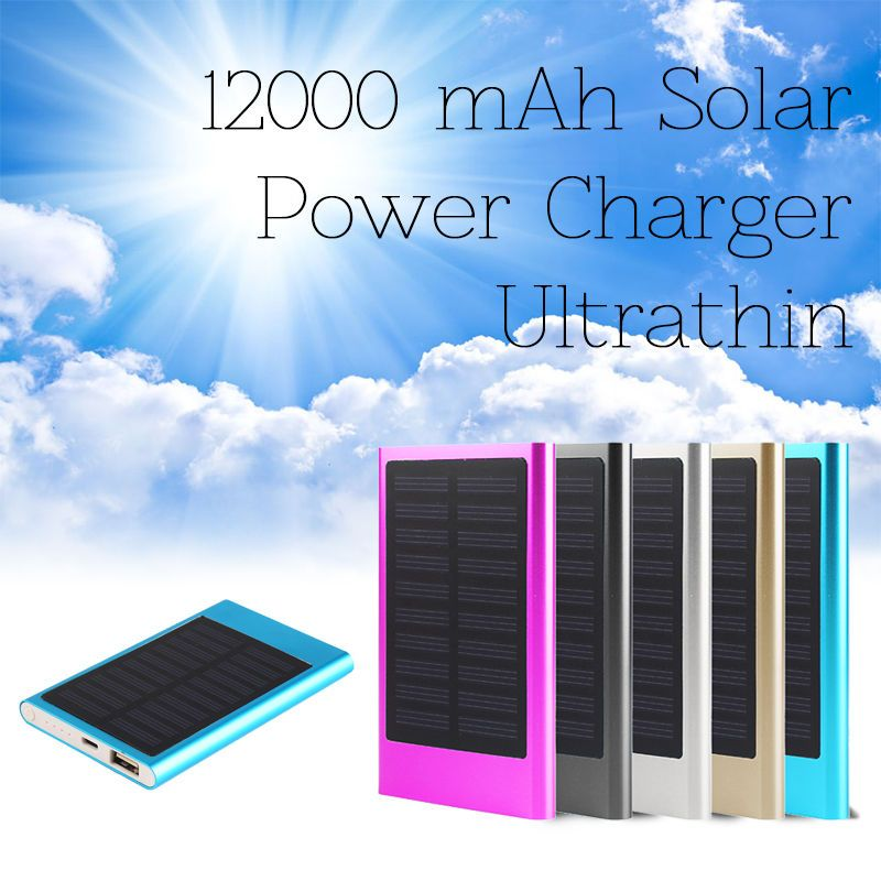 1 X 12000mah Power Bank Place The Solar Charger Can