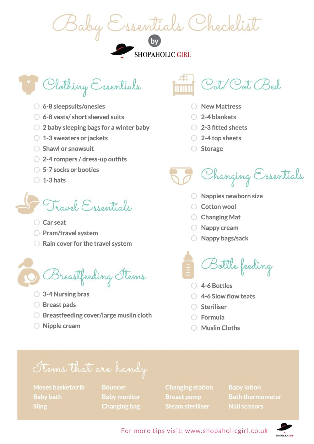 Baby Essentials - New Baby Checklist - What do you need ...