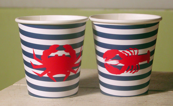 Nautical/Clambake Hot/Cold Paper Party Cups by WhenIWasYourAge