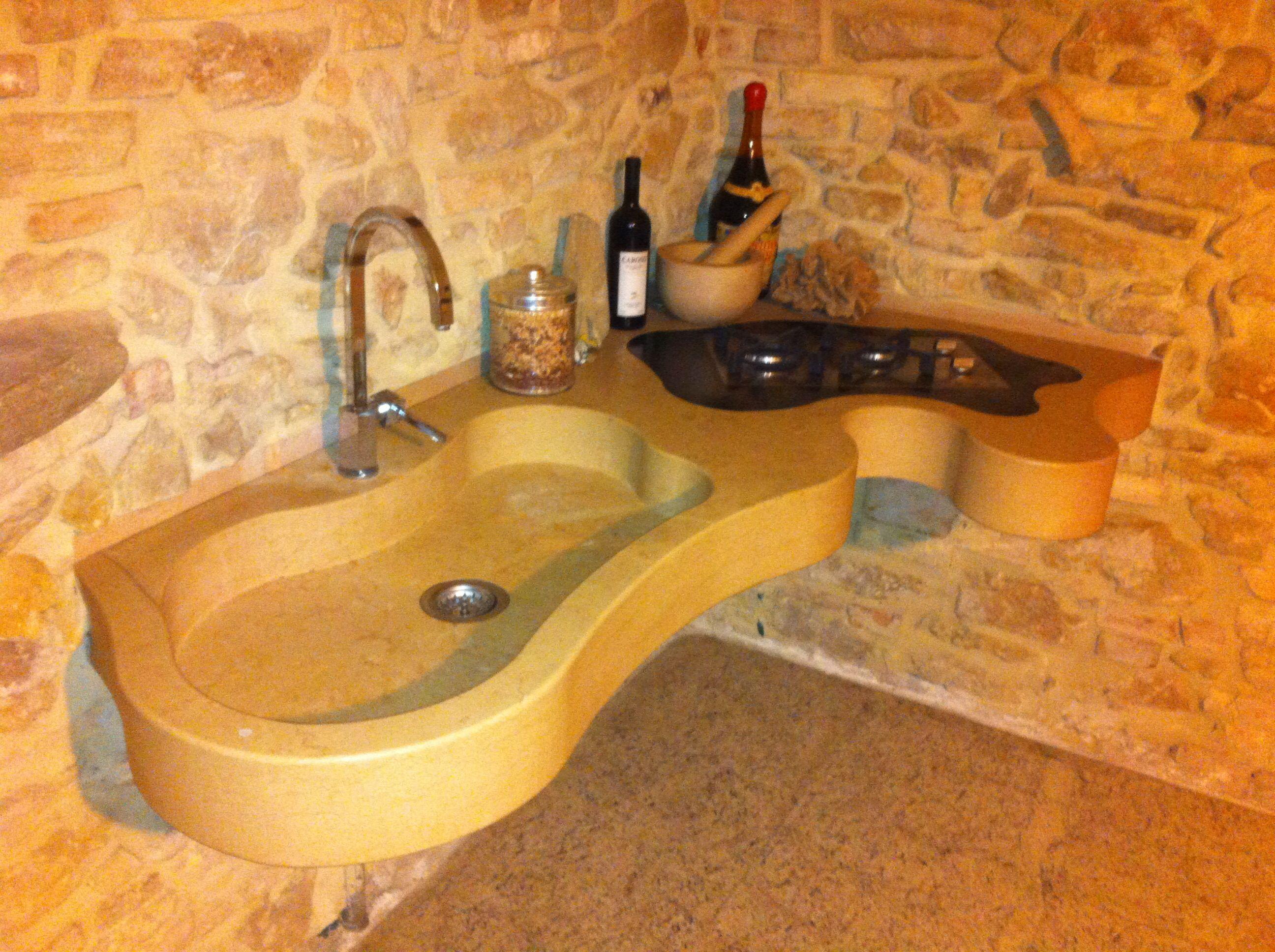 Piano Bagno In Ardesia : Lavello in massello pieno pietra di apricena pozzetto informe
