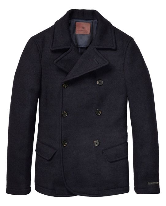 Slim Fitted Caban In Bonded Wool - Scotch & Soda