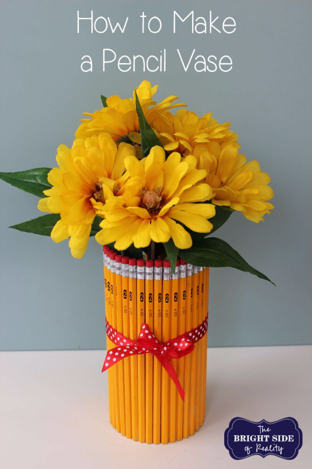 e11f9ac1bbf7 DIY Teacher Gifts - Simple Pencil Vase - Cheap and Easy Presents and DIY  Gift Ideas