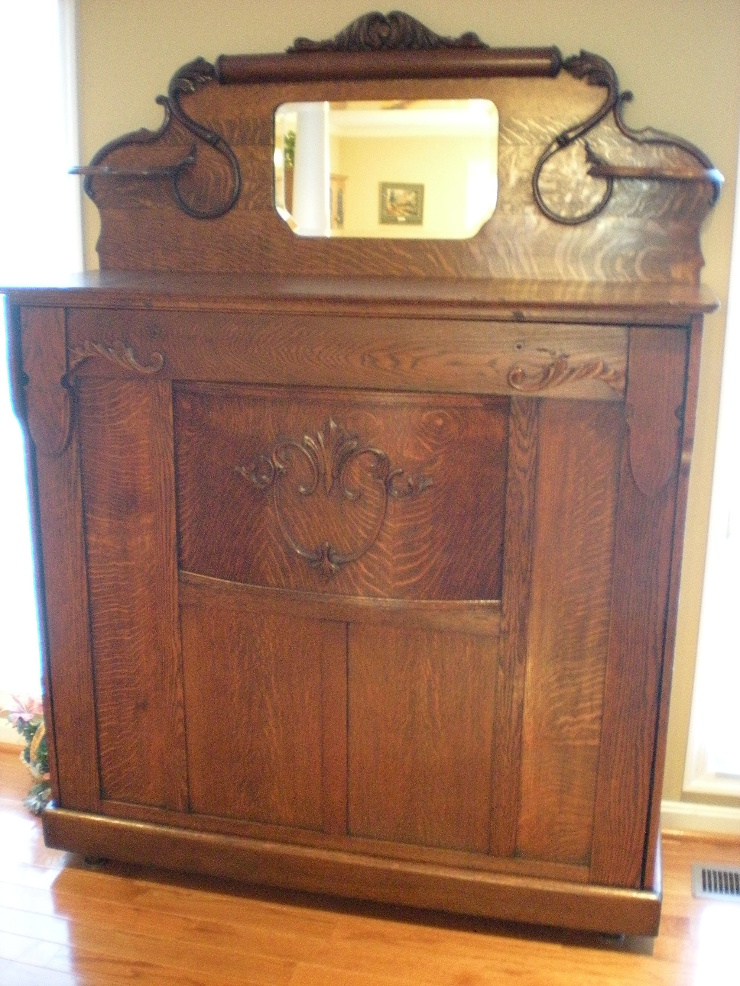 1907 Oak Murphy Bed After Restoration Vintage Bedroom Furniture Painting Wooden Furniture Antique Furniture