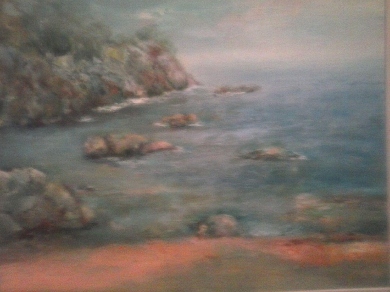 Costa Brava óleo 81x 65 pintado por Marga Bos