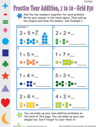 Count the Dots: Single-Digit Addition 30 | Addition ...